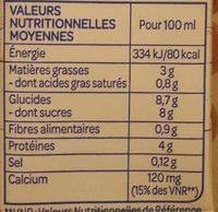 Boisson Soja Chocolat - Informations nutritionnelles - fr
