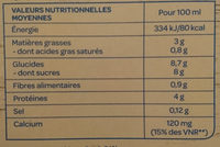 Soja chocolat - Nutrition facts