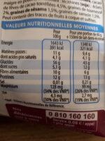 Muesli chocolat 3 céréales & 3 graines - Informations nutritionnelles
