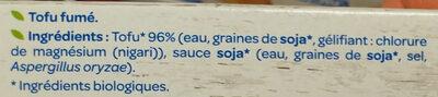 Tofu fumé - Ingredients - fr