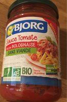 Sauce tomate façon bolognaise sans viande bio - Produit