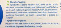 Avoine complet - Ingredients - fr