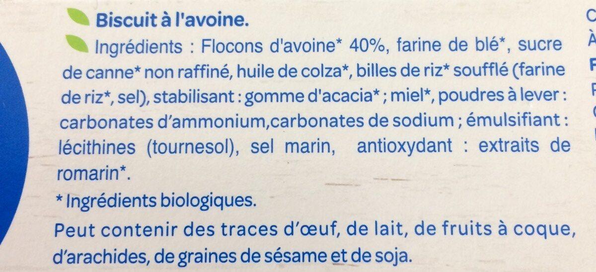 Biscuits avoine complet - Ingrediënten - fr