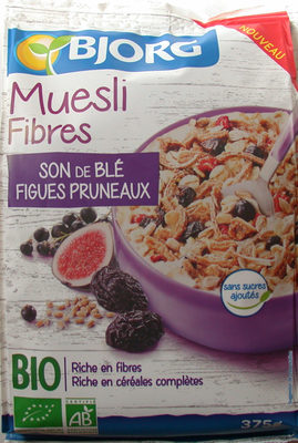 muesli fibres son de bl figues pruneaux bjorg 375 g. Black Bedroom Furniture Sets. Home Design Ideas