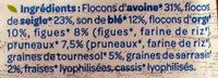 Muesli Fibres SON de BLE FIGUES PRUNEAUX - Ingredients - fr