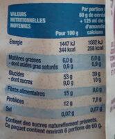 Muesli Fibres Son de Blé, Figues, Pruneaux - Informations nutritionnelles - fr