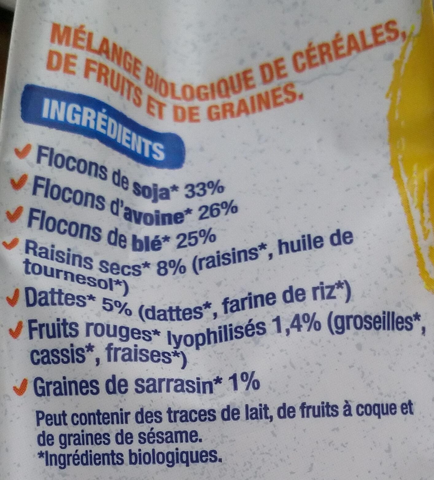 Muesli Protéinés Soja Dattes - Ingredienti - fr
