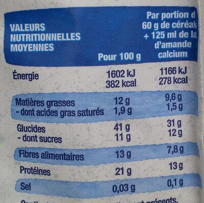 Muesli Protéinés Soja Dattes - Informations nutritionnelles - fr