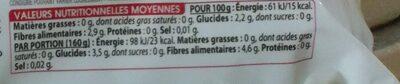 Tagliatelle de Konjac - Informations nutritionnelles - fr