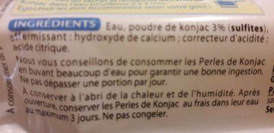 Perles de konjac - Ingrédients - fr