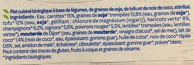 Petits légumes tofu et pointe de coco - Inhaltsstoffe - fr