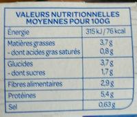 Petits légumes tofu et pointe de coco - Nährwertangaben - fr