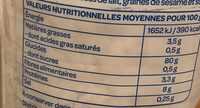 Galette riz complet 19 galettes environ - Informations nutritionnelles - fr