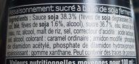 Sauce soja sucrée - Ingredients - fr
