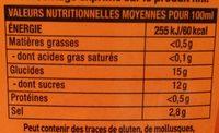 Sauce de piment sriracha mi-forte - Informations nutritionnelles - fr