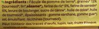 pain 3 graines sans gluten et bio - Ingrédients - fr