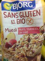 Muesli sans gluten fruits tournesol lin doré - Product - fr
