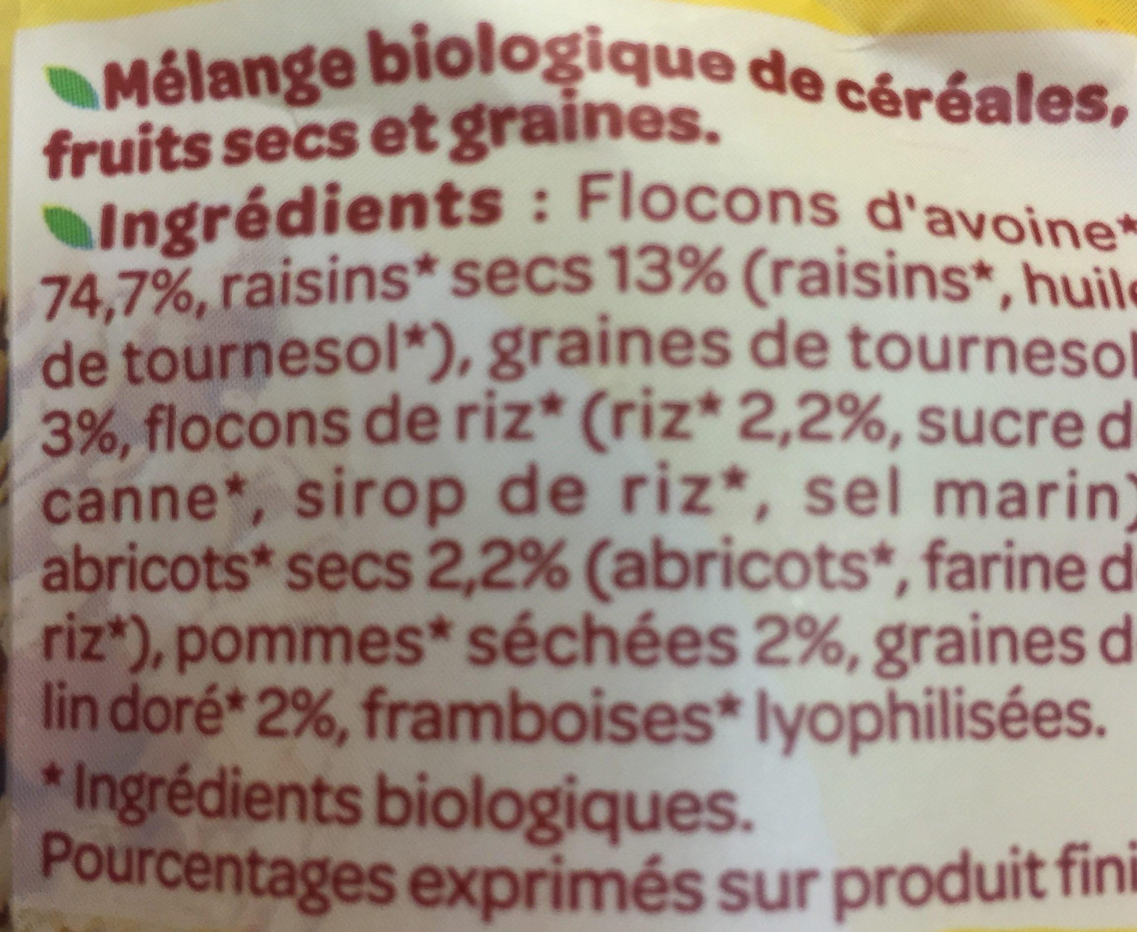 Muesli sans gluten fruits tournesol lin doré - Ingrediënten - fr