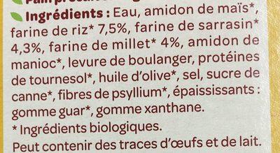 3 Petits pavés nature - Ingredients