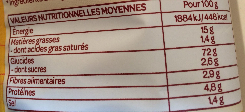 Maïs soufflés Sans Gluten et Bio Minis Fromage - Informations nutritionnelles - fr