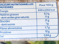 Riz & Seitan à l'Indienne bio - Nutrition facts - fr