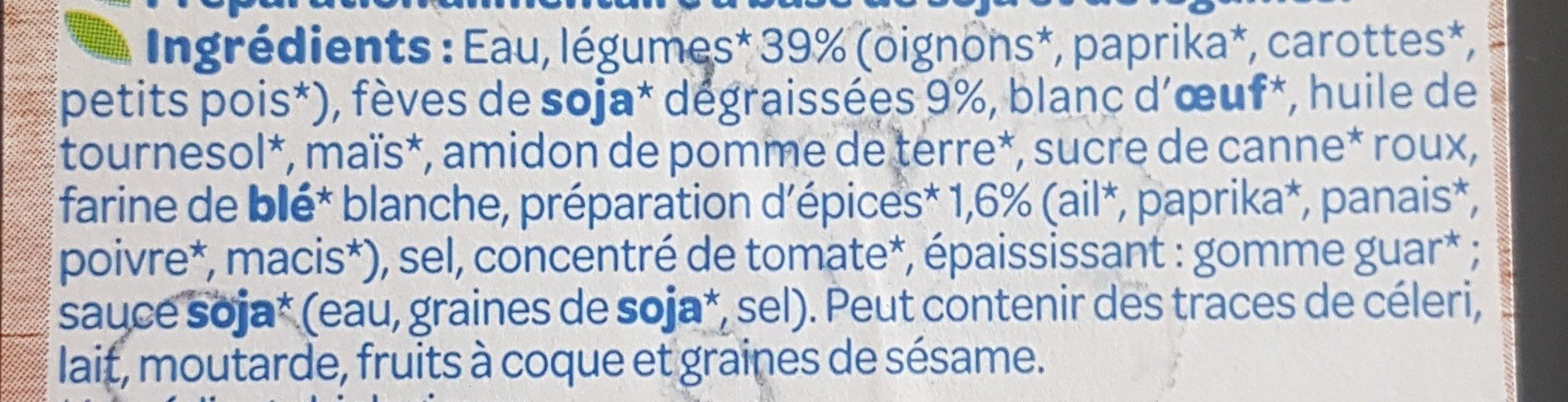 Galettes aux legumes - Ingrédients - fr