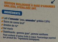 Lait d'amandes grillée - Ingredienti - fr
