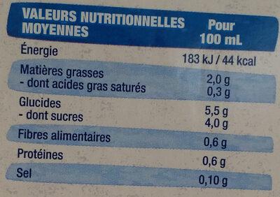 Lait d'amandes grillée - Valori nutrizionali - fr