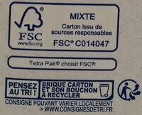 Lait d'amandes grillée - Istruzioni per il riciclaggio e/o informazioni sull'imballaggio - fr
