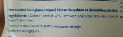 Quinoa Lentilles - Ingredienti - fr