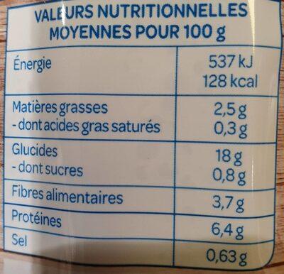 Quinoa Lentilles - Valori nutrizionali - fr