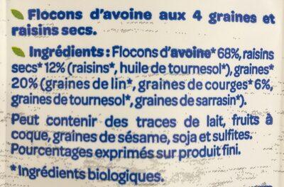 Flocon d'avoine - Ingrediënten - fr