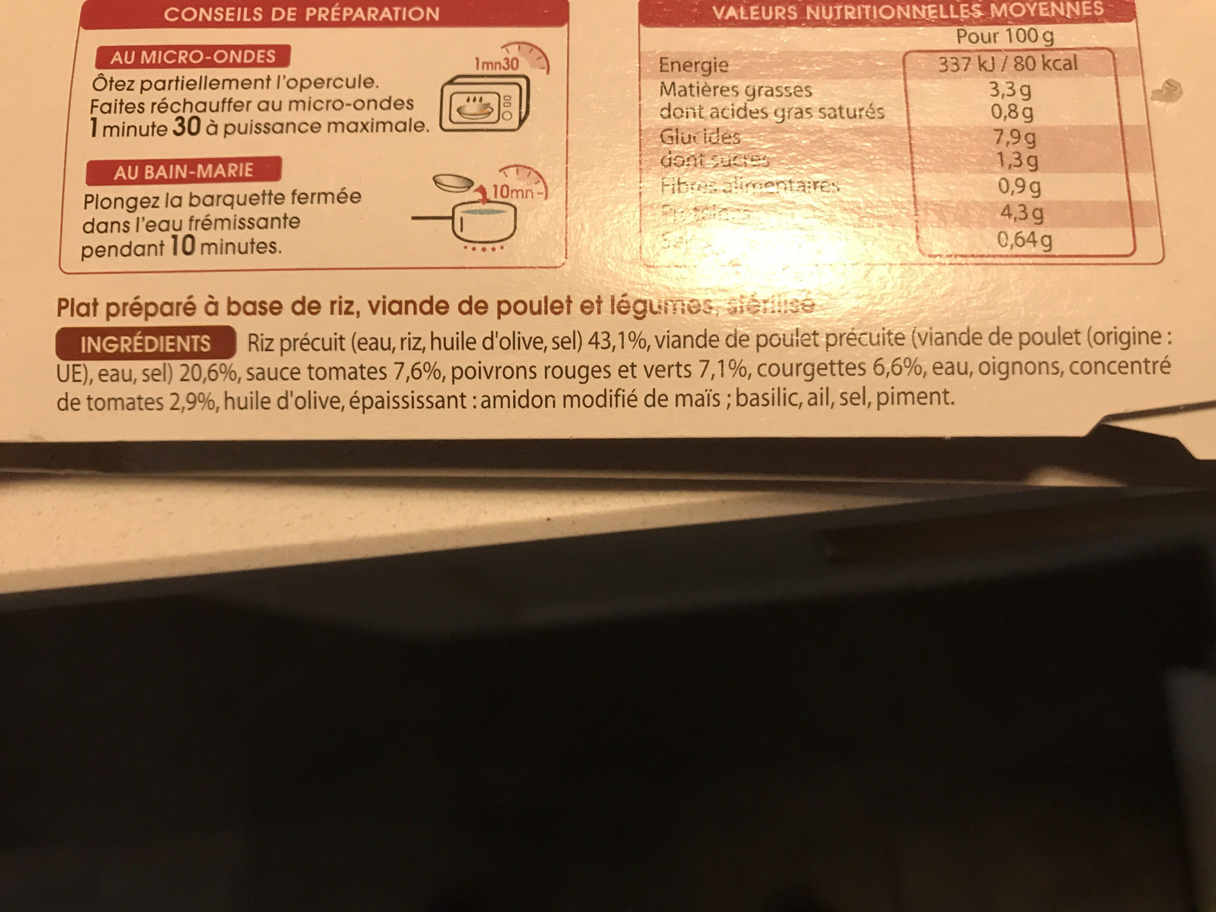Poulet basquaise - Ingrédients - fr
