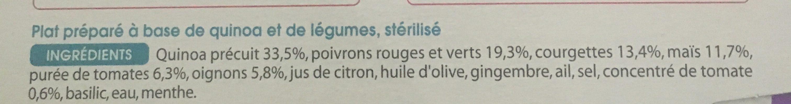 Quinoa aux petits legumes - Ingrédients - fr