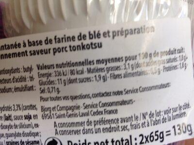 Nouilles japonnaises - Informations nutritionnelles - fr