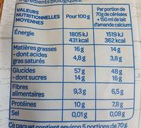 Granola Mangue Cajou - Informations nutritionnelles - fr