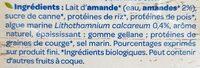 Lait d'amande Protéines - Ingrédients - fr