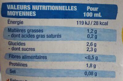Lait d'amande Protéines - Informations nutritionnelles - fr