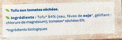 Tofu Curry BIO - Ingrédients