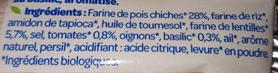 L'Apéro Bio Chips soufflées pois chiches et lentilles tomate basilic - Ingredients