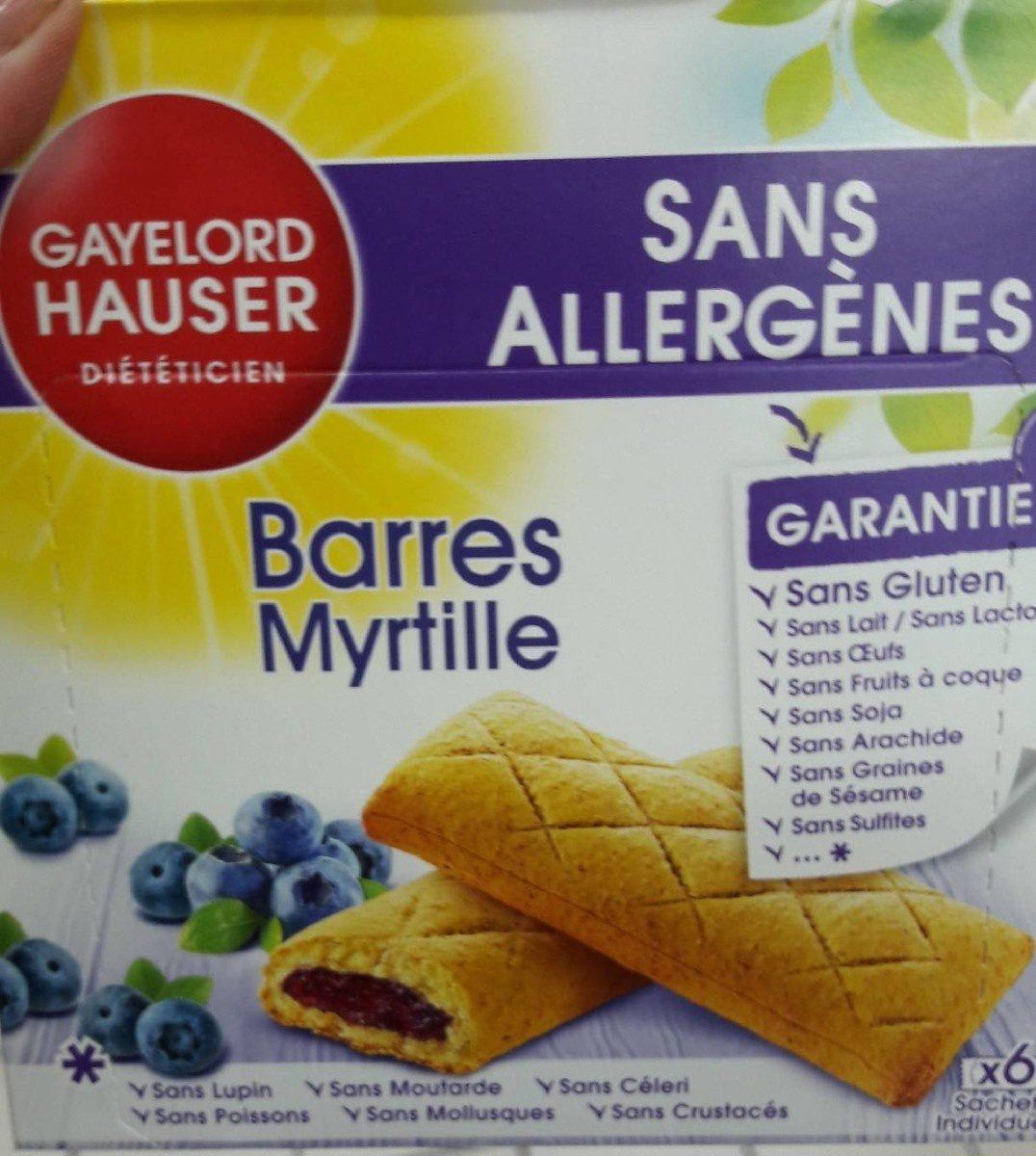 Barres Myrtilles - Product