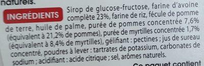 Barres Myrtilles - Ingredients