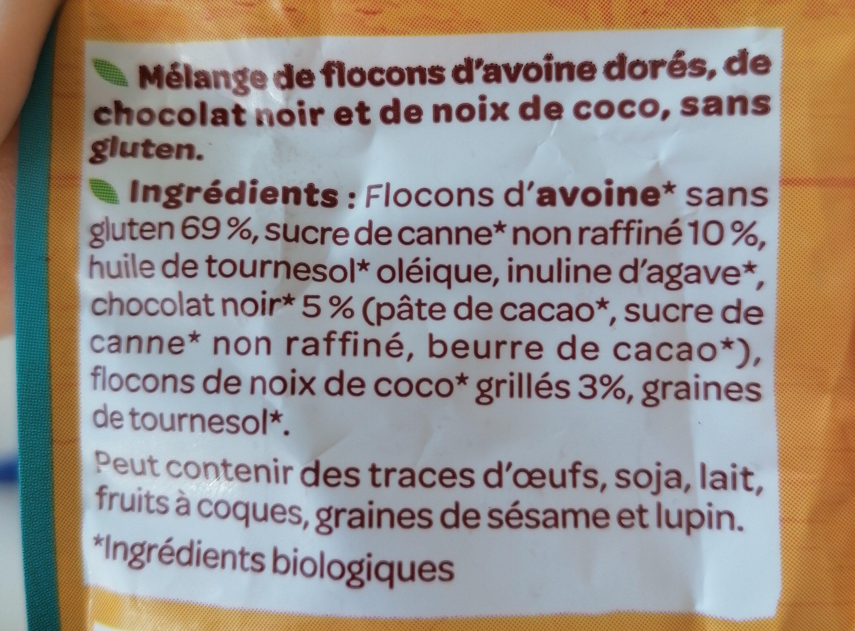 Granola chocolat coco - Ingredienti - fr