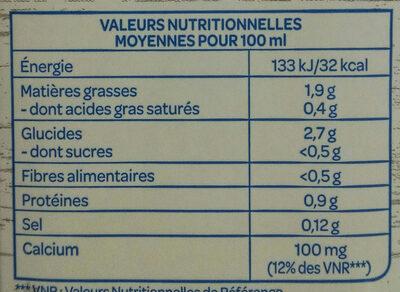 Lait de noix de cajou - Nutrition facts - fr