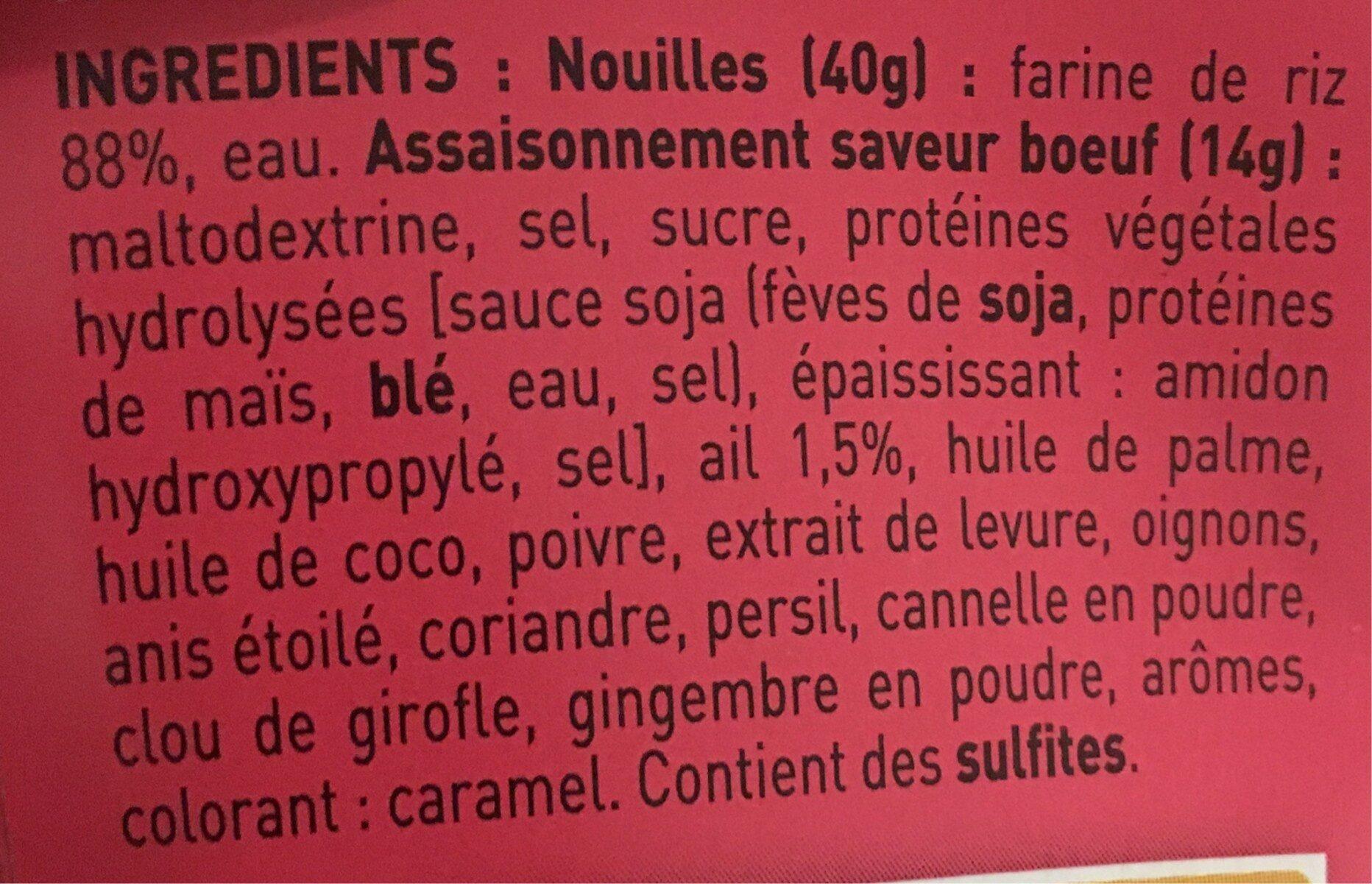 Vietnam Pho Boeuf - Ingredients - fr