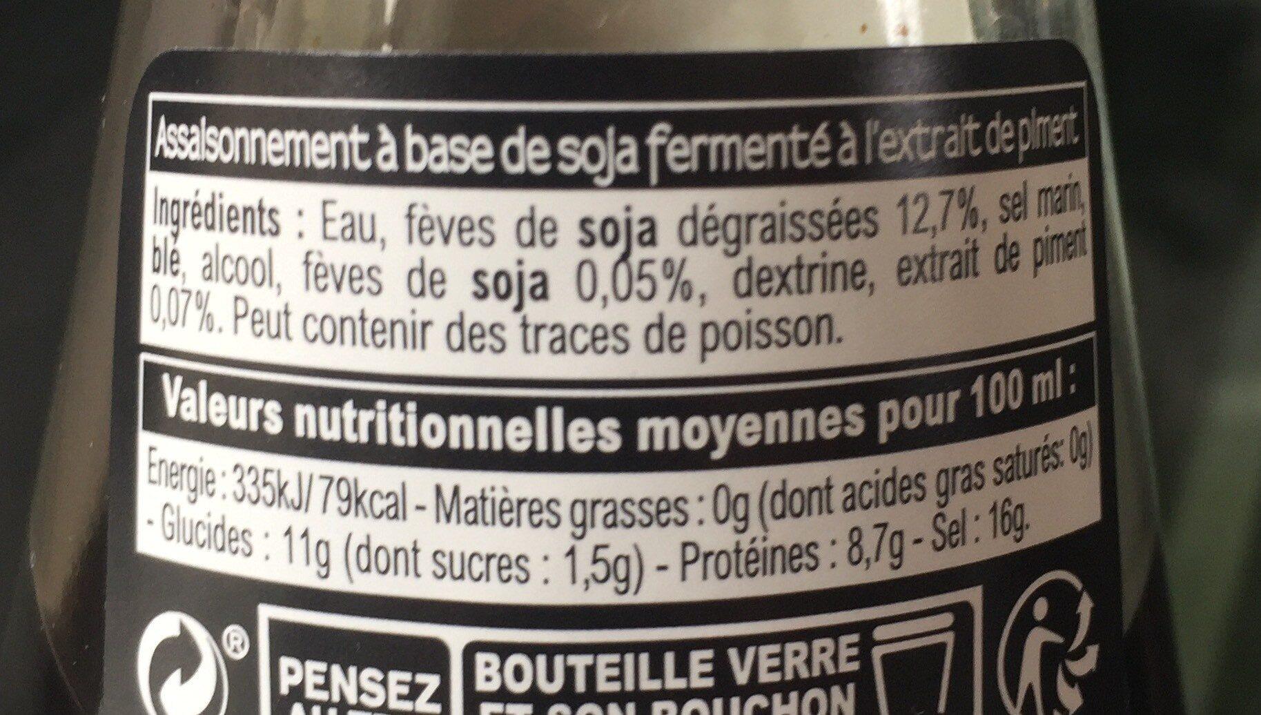 Sauce Soja - épicée - Nutrition facts - fr