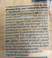 Cappelletti aux 5 légumes - Ingrédients - fr