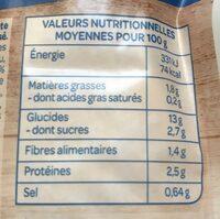 Cappelletti aux 5 légumes - Informations nutritionnelles - fr