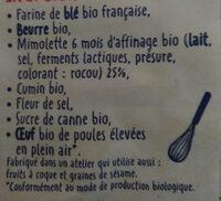 Sablés Mimolette et Cumin - Ingredients - fr
