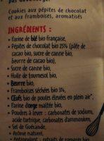 Petit cookies chocolat framboise - Ingredients